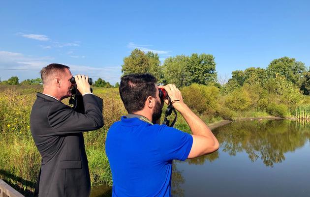 Congressman Stivers Goes Birding at Grange Insurance Audubon Center