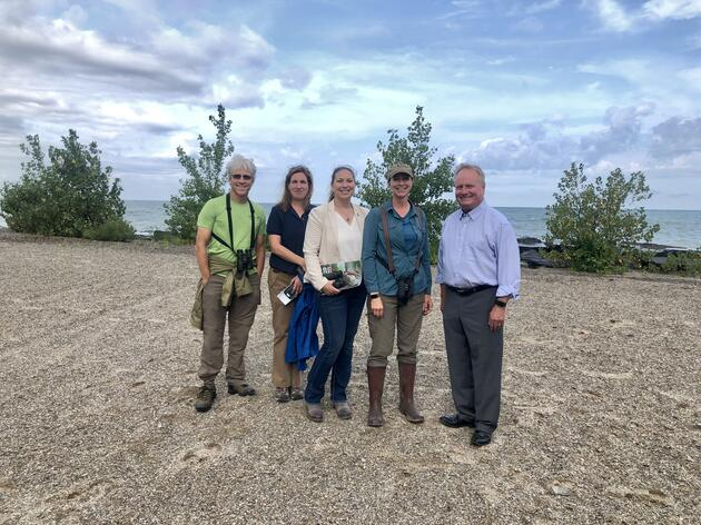 Congressman Dave Joyce Goes Birding with Audubon Great Lakes in Ashtabula at Walnut Beach