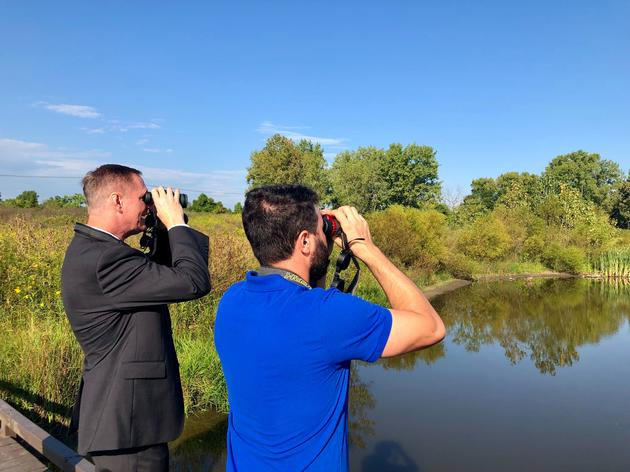 Congressman Stivers Goes Birding at Grange Insurance Audubon Center