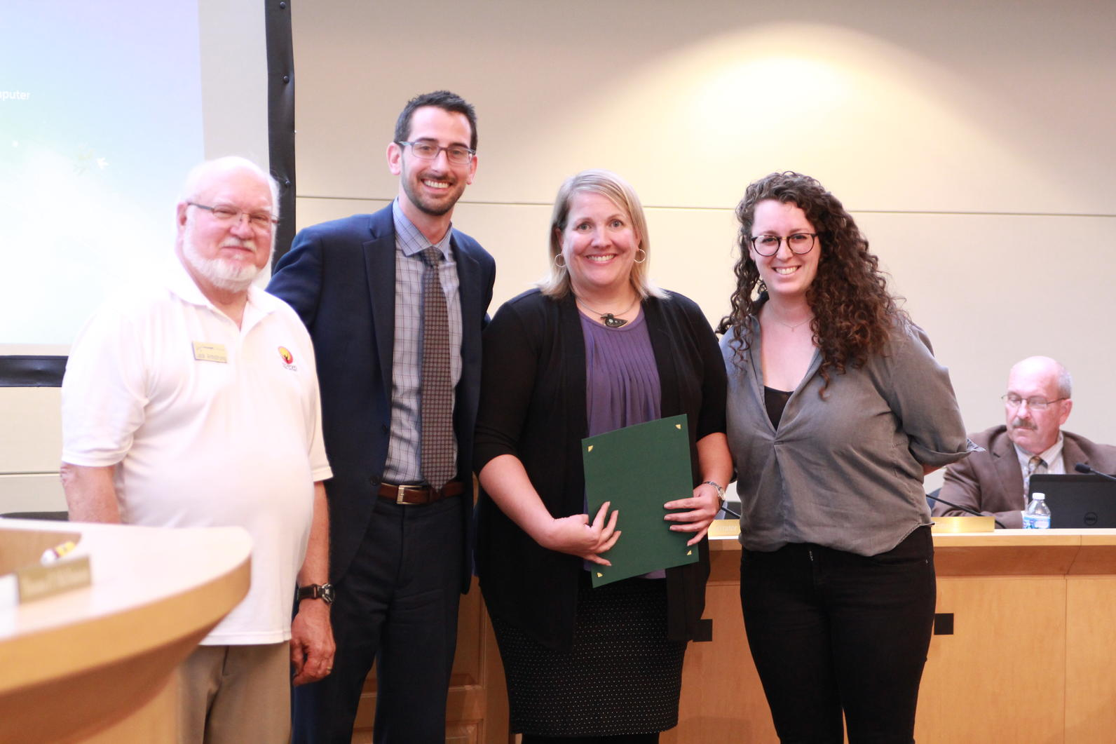 """Sinnissippi Audubon Society receives their """"Year of the Bird Proclamation"""" from City of Rockford, Illinois"""