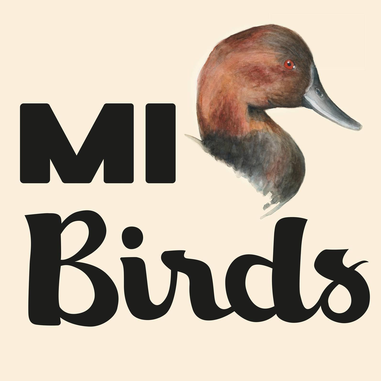 MI Birds Logo, Michigan, Birds, Birding, Conservation